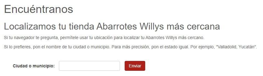 abarrotes willys buscador de comercios