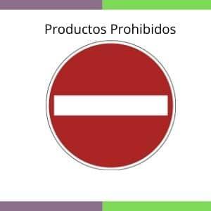 productos prohibidos
